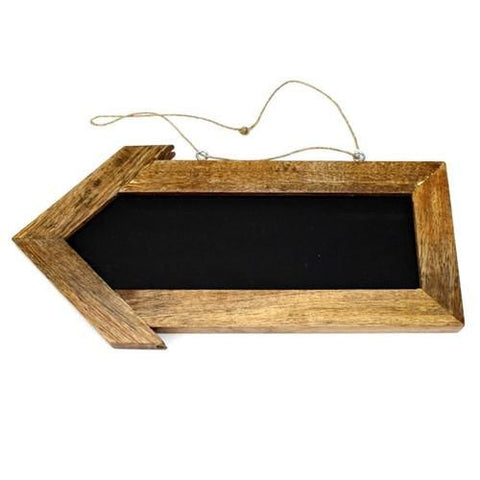 Chalkboard Arrow Rustic Wood Sign, 12-Inch