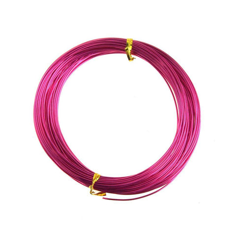 Aluminum Wire Craft Metal, 18 Gauge, 1 mm, 15 Yards, Fuchsia