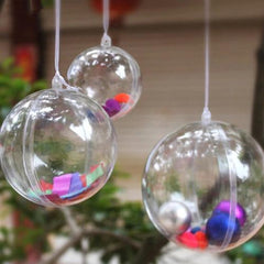 Fillable Round Ball Ornaments, 12-Piece