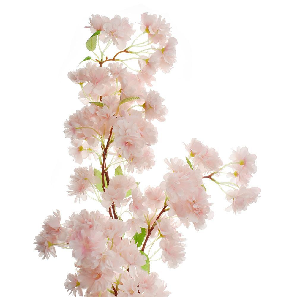 Artificial Cherry Blossom Spray, Pink, 40-Inch