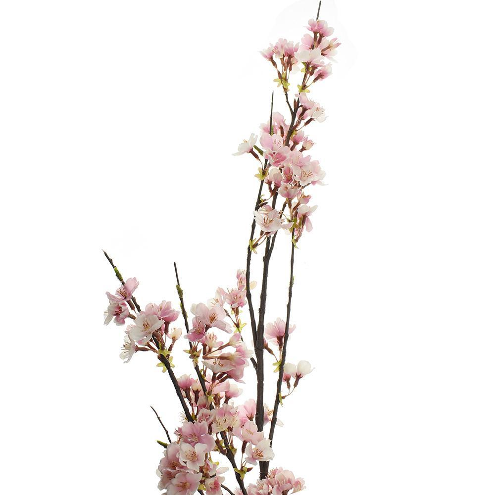 Artificial Cherry Blossom Branch Spray, Pink/Cream, 51-Inch
