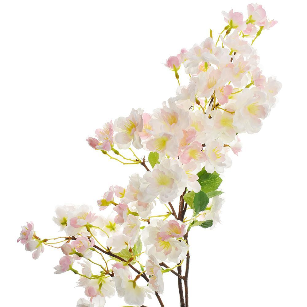 Artificial Cherry Blossom Branch Spray, Pink, 41-Inch