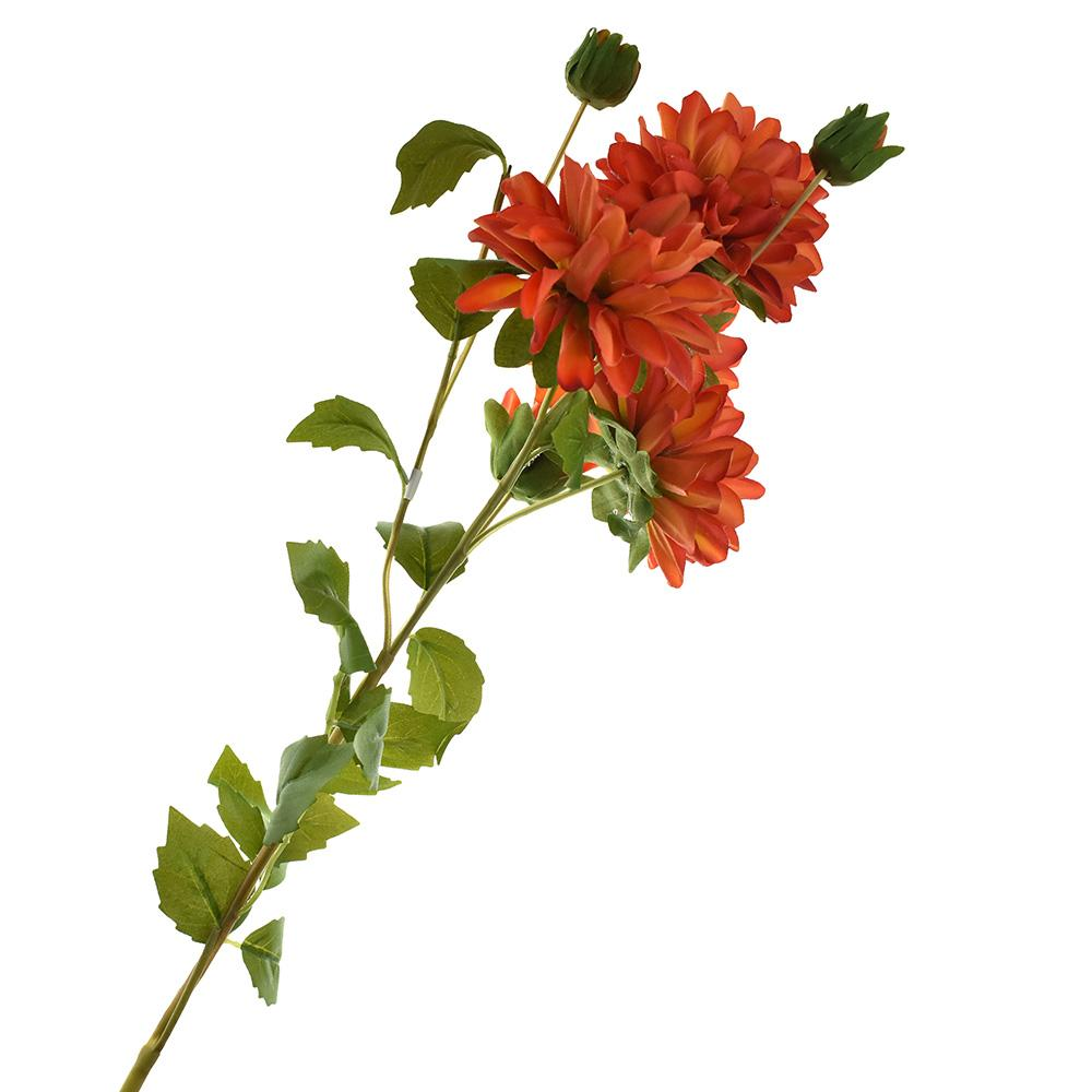 Artificial Two Toned Dahlia Spray, 29-1/2-Inch, Coral