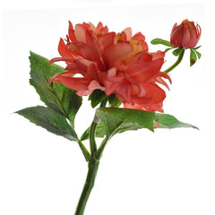 Artificial Dahlia Spray, 13-Inch