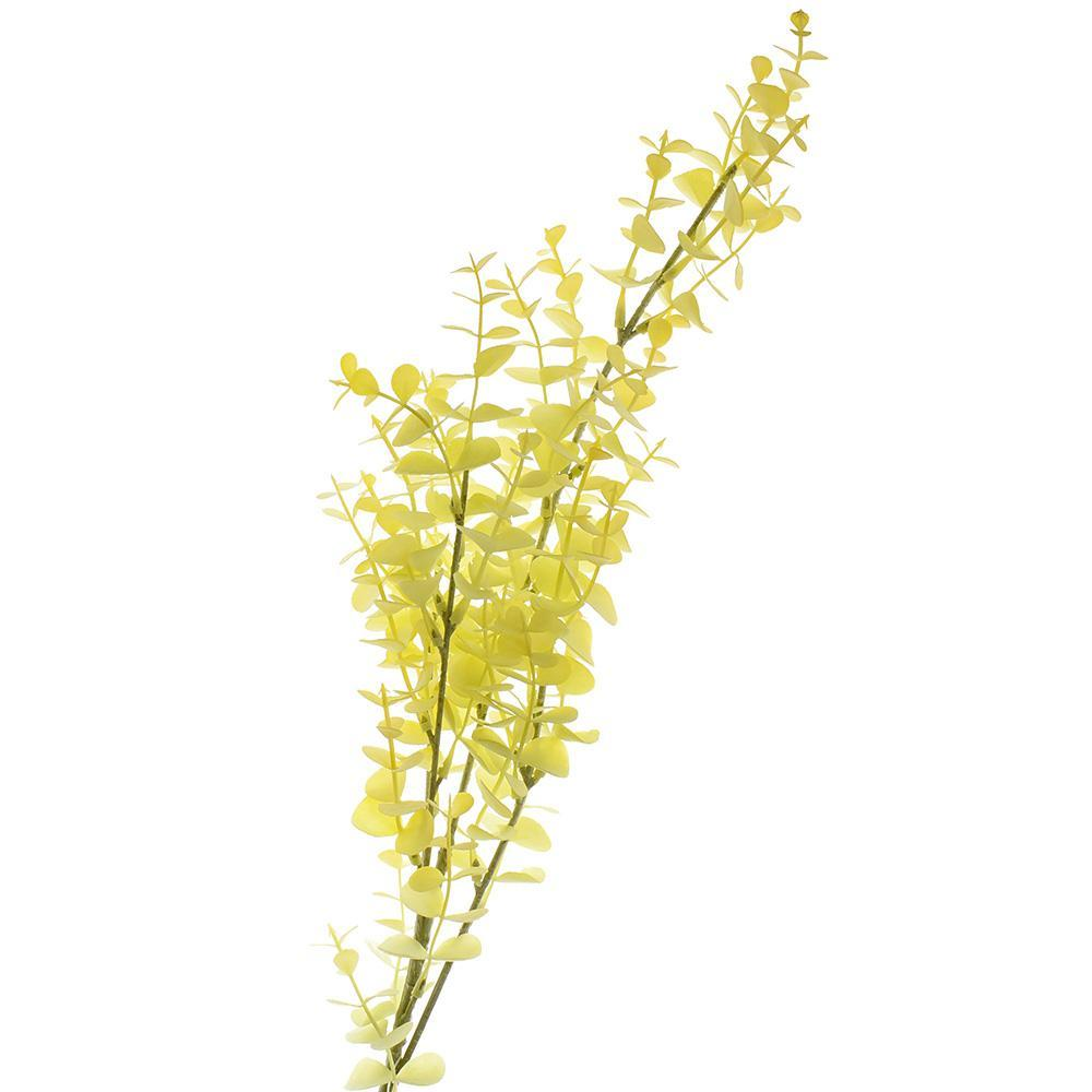 Artificial Eucalyptus Leaf Spray, Light Yellow, 31-1/2-Inch