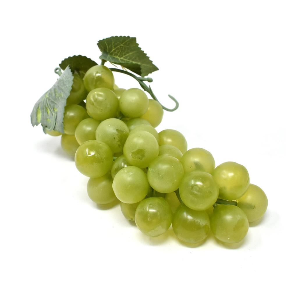 Realistic Juicy Grape Bunch Cluster, 7-Inch, Green