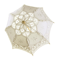 Vintage Cotton Lace Bridal Wedding Parasol, 21-D