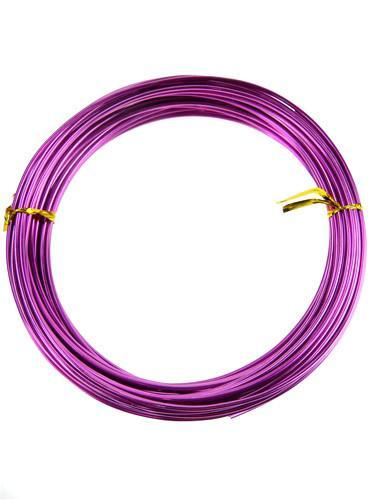Decorative Aluminum Wire, 2mm, 13-yard, Fuchsia