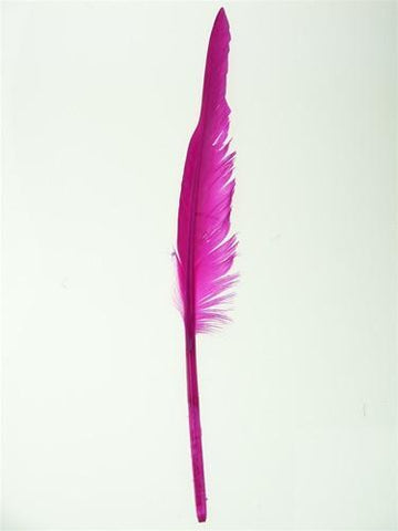Duck Feather Decorative, 14-inch, 10-Piece, Fuchsia
