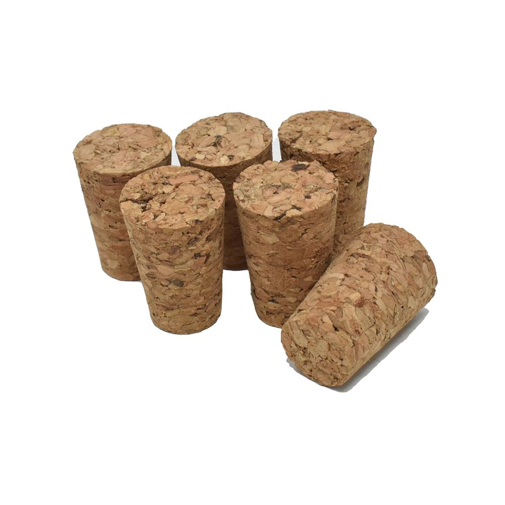 Tapered Cork Stopper, Natural, 5/8-Inch, 6-Count