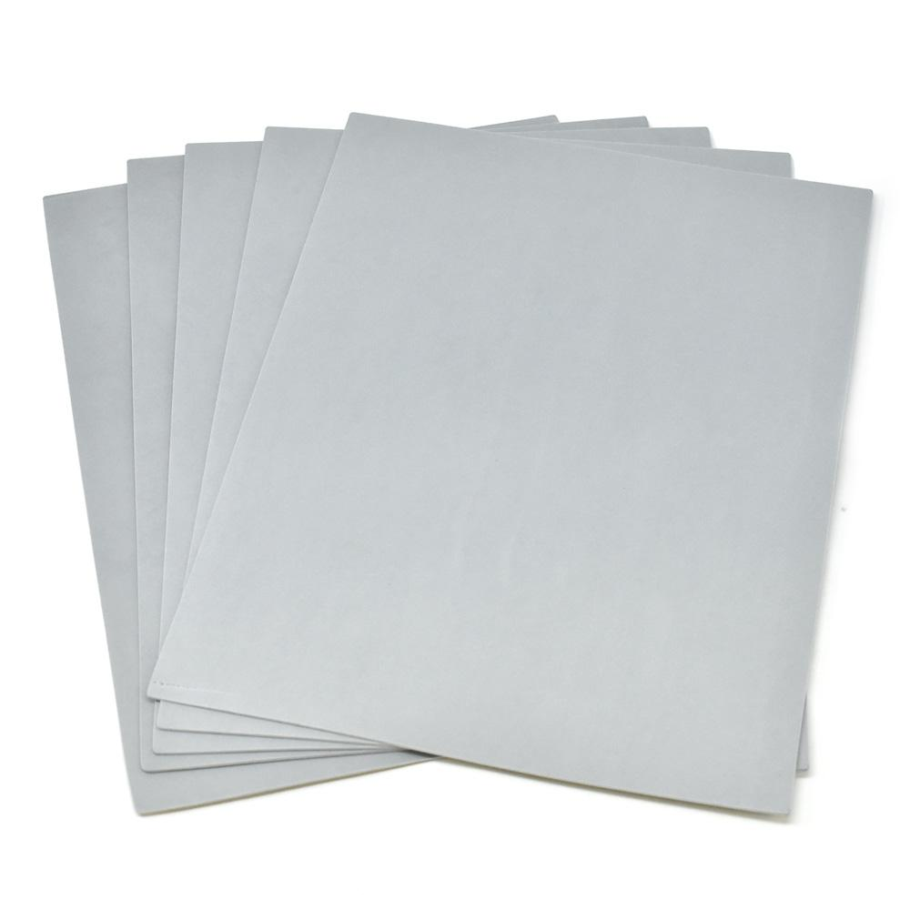 Plain EVA Foam Sheets, 9-Inch x 12-Inch, 5-Piece, Silver