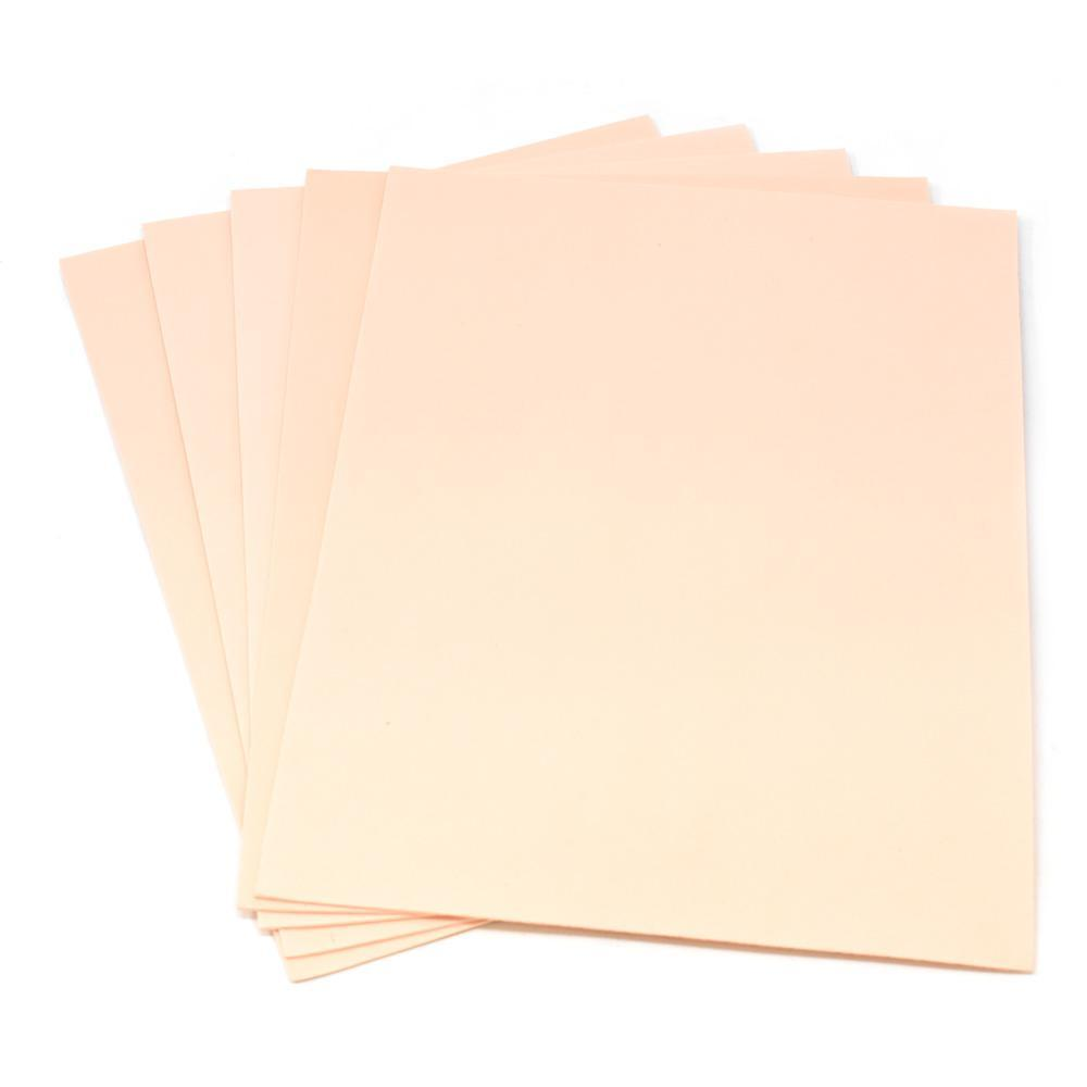 Plain EVA Foam Sheets, 9-Inch x 12-Inch, 5-Piece, Peach