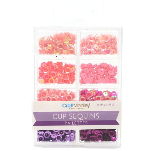 Loose Cup Sequins Palettes, Princess, 6mm, 16-gram