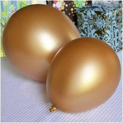 Latex Balloons Party Supplies, 12-inch, 12-piece, Gold