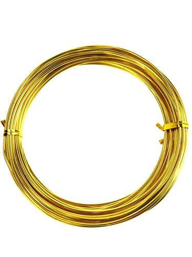 Decorative Aluminum Wire, 2mm, 13-yard, Gold