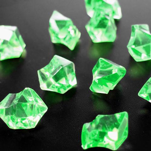Acrylic Crystal Ice Rocks Table Scatter, 1-Inch, 150-Piece, Green