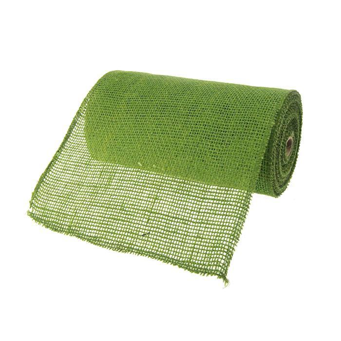 Burlap Rolls Jute Fabric, 9-Inch, 10 Yards, Green