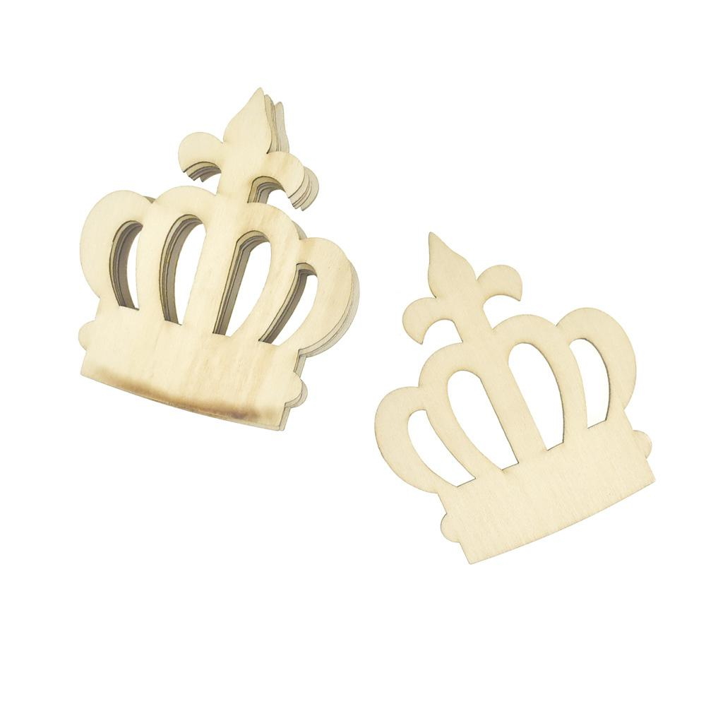 Royal Crown Wooden Cut-Outs, 3-1/2-Inch, 6-Count