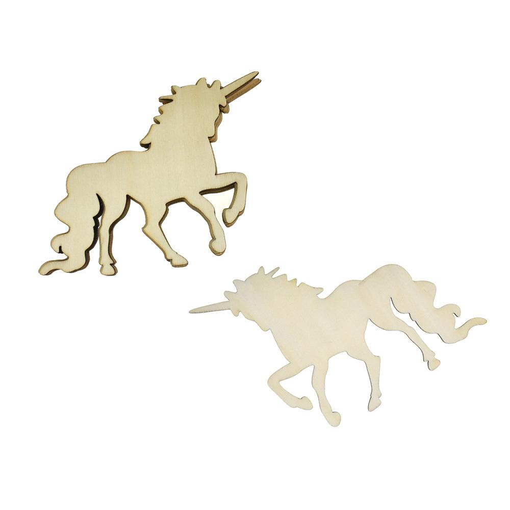 Magical Unicorn Wooden Cut-Outs, 3-1/2-Inch, 6-Count