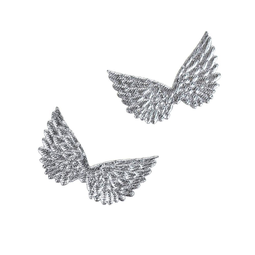 Embossed Angel Wing Party Favor Embellishments, 1-1/2-Inch, 6-Count, Silver