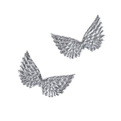 Embossed Angel Wing Party Favor Embellishments, 1-1/2-Inch, 6-Count