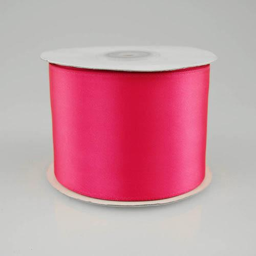 Double Faced Satin Ribbon, 2-1/2-inch, 25-yard, Hot Pink