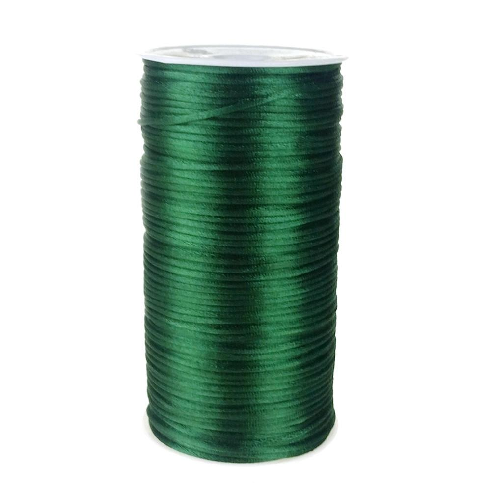 Satin Rattail Cord Chinese Knot, 1/16-Inch, 200 Yards, Hunter Green