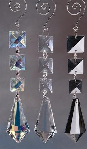 Acrylic Chandelier Crystals, Icicle Link, 7-Inch, Silver