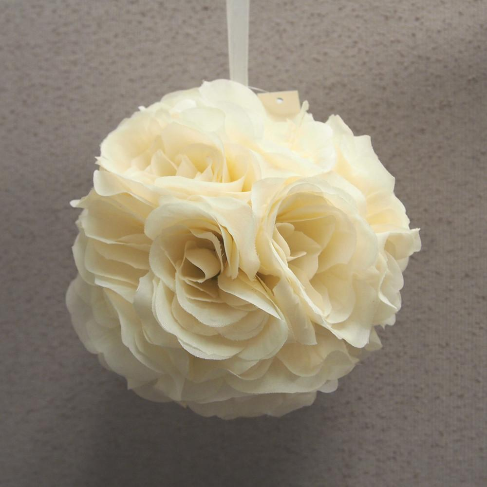 Silk Flower Kissing Balls Wedding Centerpiece 6 Inch Ivory Www
