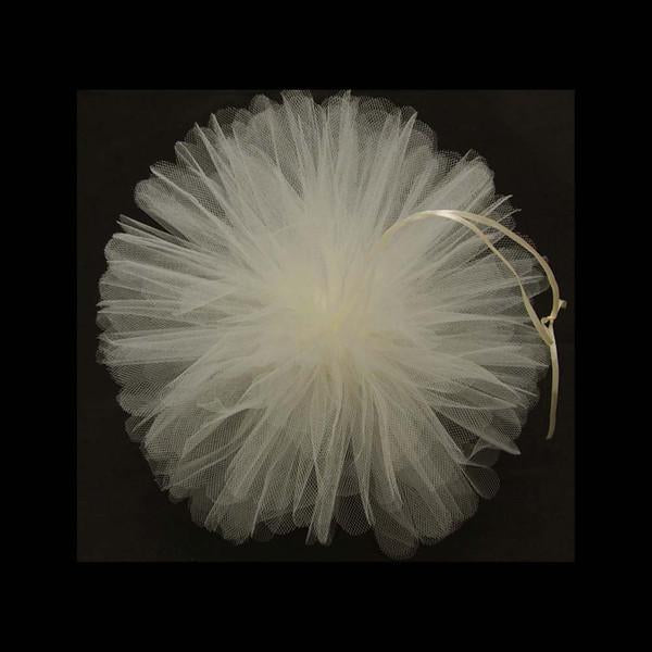 Tulle Pom Poms Ball Centerpiece, 4-Piece, 12-Inch, Ivory