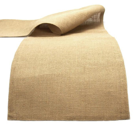 Burlap Table Runner, Natural, 14-Inch