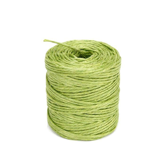 Burlap Jute Twine Rope, 3-Ply, 3mm, 75 Yards, Apple Green