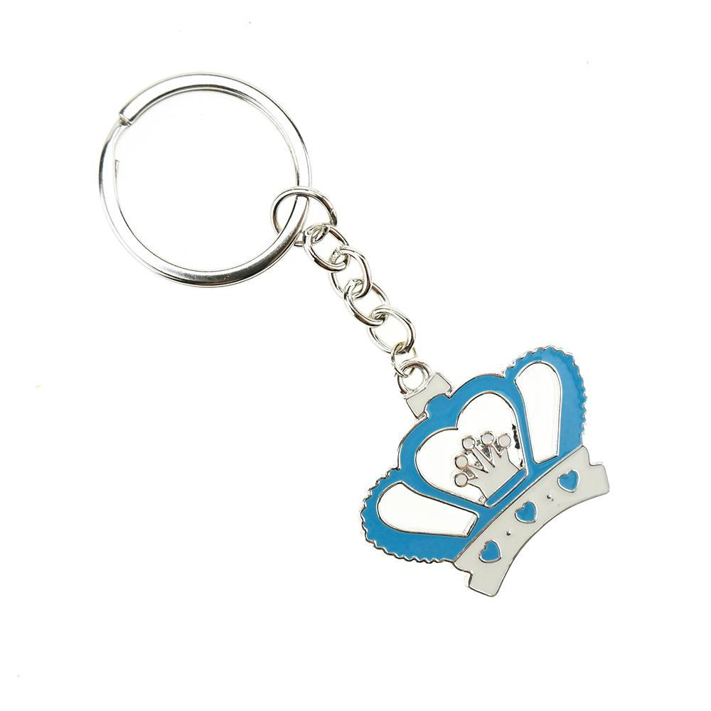 Royal Crown Baby Shower Key Chain Favor, 3-3/4-Inch, 12-Count, Blue