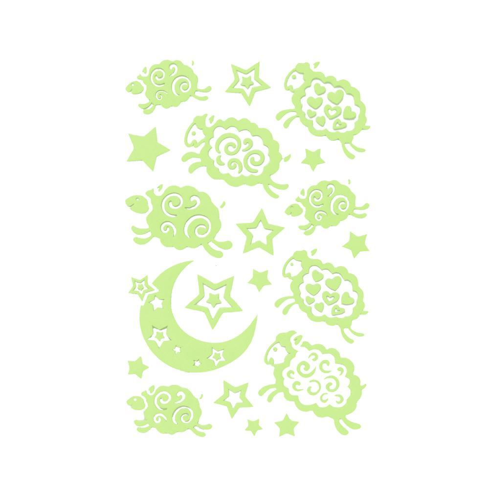 Nighttime Pals Glow In The Dark Stickers, 2-Sheets