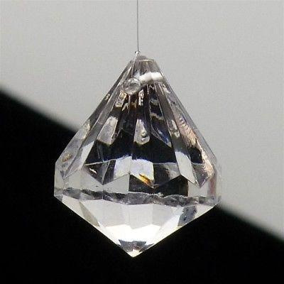 Acrylic Crystal Hanging Decor, 1-Inch, 100-piece