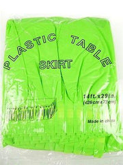 Plastic Table Skirt Adhesive Pleated, 29-Inch x 14-feet