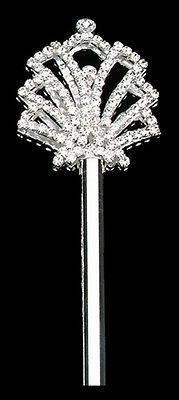 Crystal Rhinestone Scepters, 18-1/2-inch, Seashell, CLOSEOUT