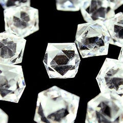 Acrylic Ice Rocks Twelve Point Star, 3/4-Inch, 150-Piece
