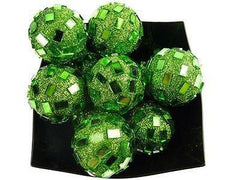 Glitter Disco Ornament Balls, 1-1/4-inch, 10-Piece