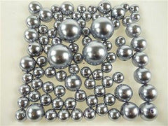 Assorted Plastic Pearl Beads, 14mm, 20mm, 30mm, 84-Piece