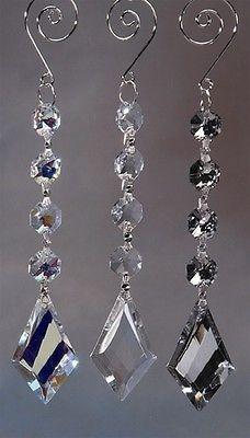Acrylic Chandelier Crystals, Diamond Link, 7-Inch