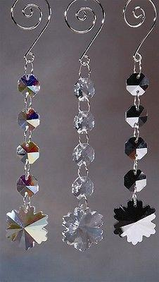 Acrylic Chandelier Crystals, Snowflake Link, 6-1/2-Inch, Iridescent Clear