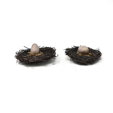 Artificial Decorative Accent Bird Nest & Eggs, 2-Pack