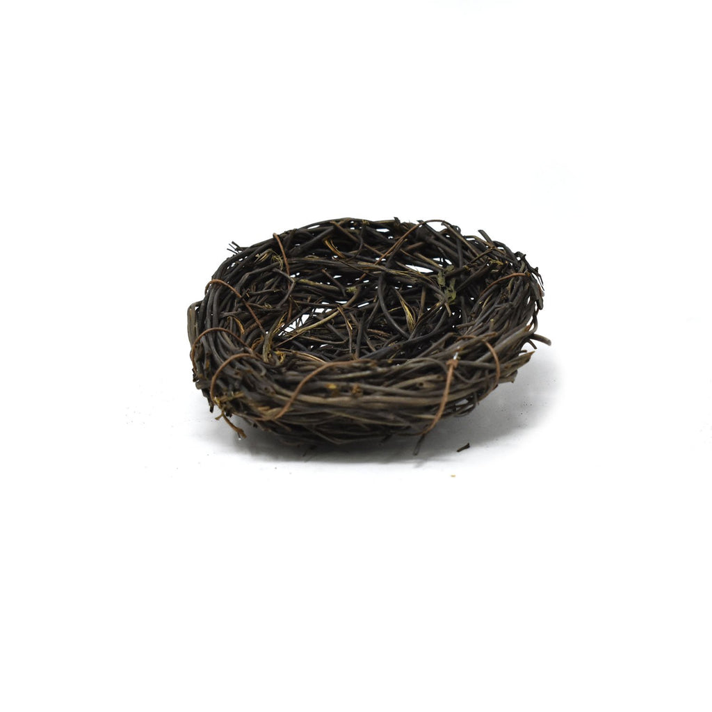 Artificial Decorative Accent Bird Nest, 3-Inch
