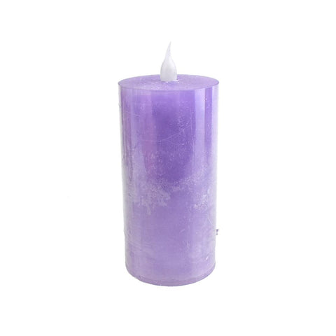 Battery Operated LED Votive Candle with Built-In Timer, Lilac, 4-Inch