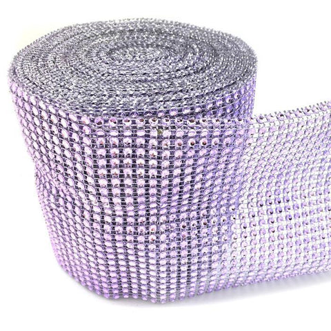 Rhinestone Diamond Wrap Ribbon, 4-3/4-Inch, 10 Yards, Lavender