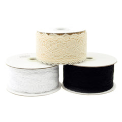 Floral Lace Roll, 2-inch, 25-yard