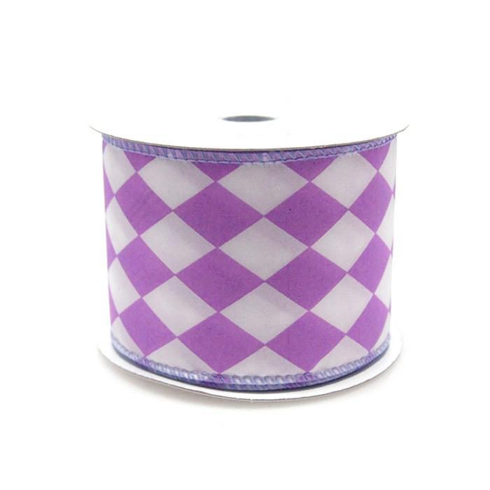 Harlequin Diamond Poly Ribbon, 2-1/2-inch, 10-yard, Lavender