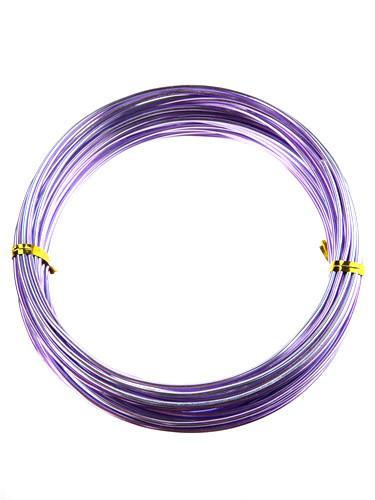 Decorative Aluminum Wire, 2mm, 13-yard, Lavender