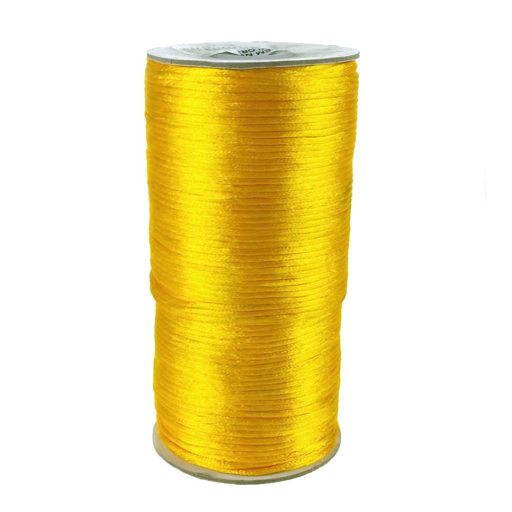 Satin Rattail Cord Chinese Knot, 1/16-Inch, 200 Yards, Light Gold